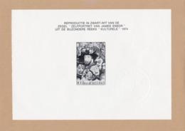 Cachet à Sec De La Poste ZNP7 1711 James Ensor - Hojas Blanco & Negro