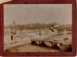 S34-007 Photographie Collée Sur Carton - Hennebont - Vue Générale - Old (before 1900)