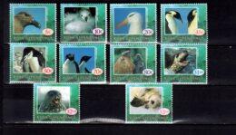 1994 Ross Dependancy Antarctic Polar Birds And Animals MNH** MiNr. 21 - 30 Penguins, Albatros, Seals, - Neufs