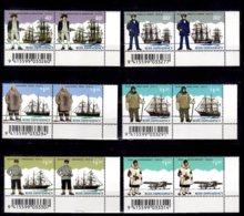 1995 Ross Dependancy Antarctic Polar Researches 2 Sets Cornes With Bar Code MNH** MiNr. 32 - 37 Ship, Aviation, J. Cook, - Neufs