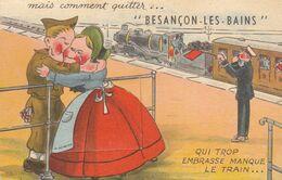 Besançon : Carte Système Et Petites Vues :   Le Train Va Partir   ///  Ref. Aout  20   /// N° 12.188 - Besancon