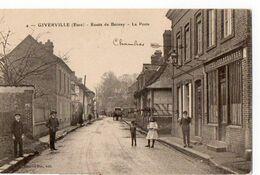 4 - GIBERVILLE (Eure) - Route De Bernay - La Poste - Routot