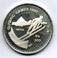 NEPAL, 500 Rupees, Silver, Year 1992, KM #1071, PROOF - Nepal