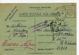 C 20 1940 Carte FM SP 12921 MARQUE - Guerra De 1939-45