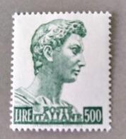 1969 - ITALIA REPUBBLICA - SAN GIORGIO  -  VALORE DI LIRE 500  - SINGOLO - NUOVO - 1961-70: Nieuw/plakker