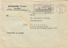 ÖSTERREICH Brief 1970 - Gel.v. Eisenerz N. Salzburg, Sonderstempel, Postgebühr Bar Bezahlt - Marcofilia - EMA ( Maquina De Huellas A Franquear)