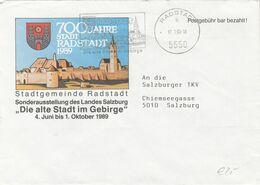 ÖSTERREICH Brief 1990 - Gel.v. Radstadt N. Salzburg, Sonderstempel, Postgebühr Bar Bezahlt - Marcofilia - EMA ( Maquina De Huellas A Franquear)