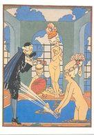 ANTIGUA POSTAL ART DECO L' EAU ILLUSTRATION LA GUIRLANDE 1920 POSTCARD   TC10860 - Pittura & Quadri