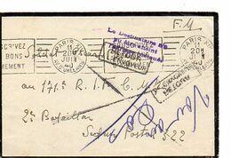 C 20 1940 LETTRE FM  SP 322 DIVERSES MARQUES - Guerra De 1939-45