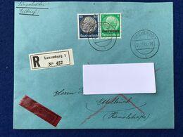 Luxembourg - Deutsches Reich - Enveloppe - Einschreiben Eilbrief R Luxemburg 1 N° 457 Nach Ettelbrück - 31.12.41 - 1940-1944 Deutsche Besatzung