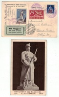 Suisse // Schweiz // Poste Aérienne // Carte Du Vol De La Caquerelle, Inauguration La Sentinelle Des Rangiers 31.08.1924 - Airmail