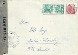 Zensur Brief  Genève - Berlin  (Rollen-Mischfrankatur)            1946 - Storia Postale