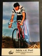 Adrie Van Der Poel - 1982 - DAF - Epodicht Siliconen - Carte / Card - Cyclists - Cyclisme - Ciclismo -wielrennen - Wielrennen