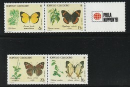 NOUVELLE CALEDONIE - 1991 - N°623/6 ** Papillons - Neufs