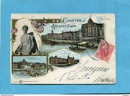 CROETEN Uit AMSTERDAM-Multi Vues Et Princesse-a Voyagé En 1910-édition Gluckstadf & Munden- - Amsterdam
