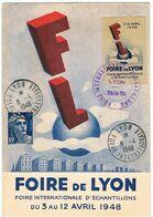 Foire De Lyon / Foire Internationale D'échantillons / 1948 / Vignette - Erinnofilia