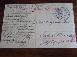 Carte Vue De Anvers En Feldpost Oblitérée Antwerpen 2 En 1915 + Cachet KEISERLICHES GOUVERNEMENT ANTWERPEN - Altri