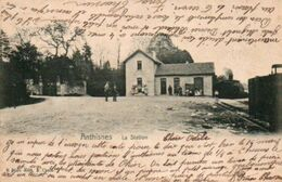 Anthisnes  La Station Animée Circulé En 1905 - Anthisnes
