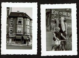 2 Petites Photo 8 X 5,5 Cm - 1937-38 - Uccle - Avenue Des Sept Boniniers - Magasin Alimentation De Sterke - Voir Scan - Lieux