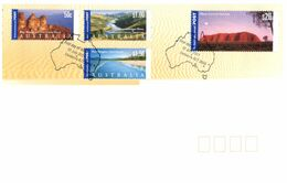 (K 22) Australia - FDC - Premier Jour - Panoramas Of Australia (2 Covers) - 2001 (include $ 20 Stamp) - FDC