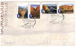 (K 22) Australia - FDC - Premier Jour - Waterfalls - 2008 (International Stamps) - Sobre Primer Día (FDC)