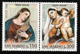1976San Marino1125-1126PaarArtist / Titian - Otros