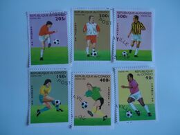 CONGO  STAMPS  SET 6 FOOTBALL SOCCER WORLD CUP - Coupe Du Monde