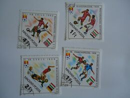 HUNGARY  STAMPS  SET 4  FOOTBALL SOCCER WORLD CUP - Coupe Du Monde