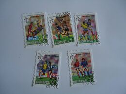 HUNGARY  STAMPS  SET 5 FOOTBALL SOCCER WORLD CUP - Coupe Du Monde