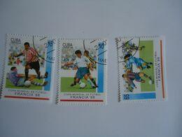 CUBA  SET 3  FOOTBALL SOCCER WORLD CUP - Coupe Du Monde