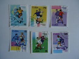 CUBA  SET 6  FOOTBALL SOCCER WORLD CUP - Coupe Du Monde