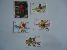 CUBA  SET 5  FOOTBALL SOCCER WORLD CUP - Coupe Du Monde