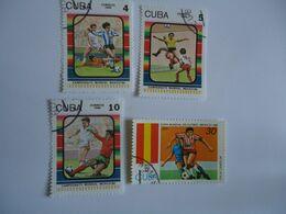 CUBA  SET 4  FOOTBALL SOCCER WORLD CUP - Coupe Du Monde