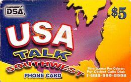 Paper $5 USA Talk Southwest Phone Card DSA Exp 05/2007 - Vereinigte Staaten