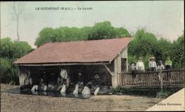Cp Guédéniau Maine Et Loire, Le Lavoir - Otros Municipios