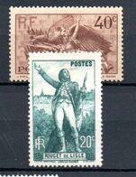 K21 France Beau N° 314 + 315 ** à 10% De La Côte . A Saisir !!! - France