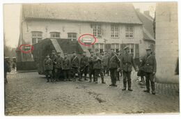 Tank Atrappe- Torhout Flandern (Ostende) Offizersheim.Interressant !!! Soldats Allemande Guerre 14-18 Carte  Photo  WWI - 1914-18