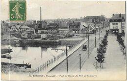 LORIENT : PASSERELLE ET PONT DU BASSIN DU PORT DE COMMERCE - Lorient