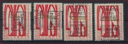 Zegel Nr. 258 éérste ORVAL Voorafgestempeld Nr. 5598 A + B + C + D  VEURNE  1930  FURNES  ; Staat Zie Scan ! - Préoblitérés