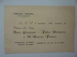 """Cartoncino Invito """"CIRCOLO UNIONE GRAGNANO MOSTRA DI PITTURA"""" Anno 1960 - Other"""