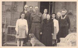 1945 General Dempsay Et La Famille De Ribaucourt Au Chateau De Perck PHOTO - Königshäuser