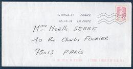 Enveloppe Avec Timbre Adhésif Ciappa Pour Lettre Suivie 20g Sans Vignette Code Barre Du 12-10-18 - France
