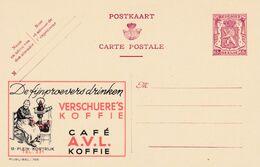 Carte Entier Postal Publibels 765 Verschuere's Koffie Café A.VL. - Enteros Postales
