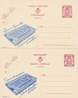 2 Cartes Entier Postaux Publibels 800 801 Papiers à Cigarette Rizla+ - Enteros Postales