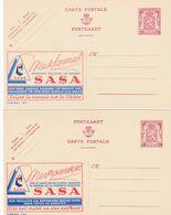 2 Cartes Entier Postaux Publibels 789 790 Sasa Soieries - Enteros Postales