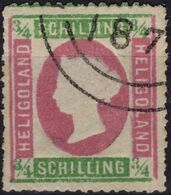 HELIGOLAND Helgoland ALLEMAGNE GERMANY 7 (o) Type I : Reine Victoria Reimpression Reprint Nachdruck - Helgoland