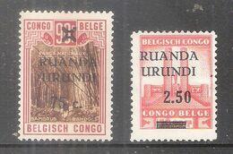 Ruanda-Urundi - COB 119/120 - X/MH (à Voir) - 1924-44: Nuovi