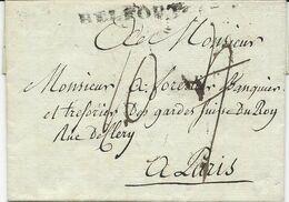 MARQUE POSTALE BELFORT 1785 - 1701-1800: Précurseurs XVIII