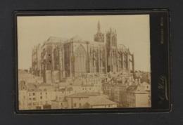 METZ * LA CATHEDRALE * FACADE NORD * 1886 * PHOTO C HOLT MONTIGNY METZ * 16.5 X 11 CM * COLLE SUR CARTON * 2 SCANS - Photos