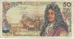 Billet 50 F Racine Du 6-3-1975 FAY 64.29 Alph. J.267 - 50 F 1962-1976 ''Racine''